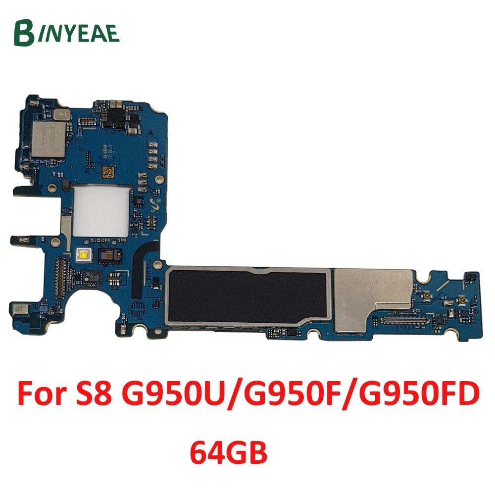 Original unlock for Samsung Galaxy S8 G950F Motherboard, For Galaxy S8 G950F G950FD G950U Logic Board