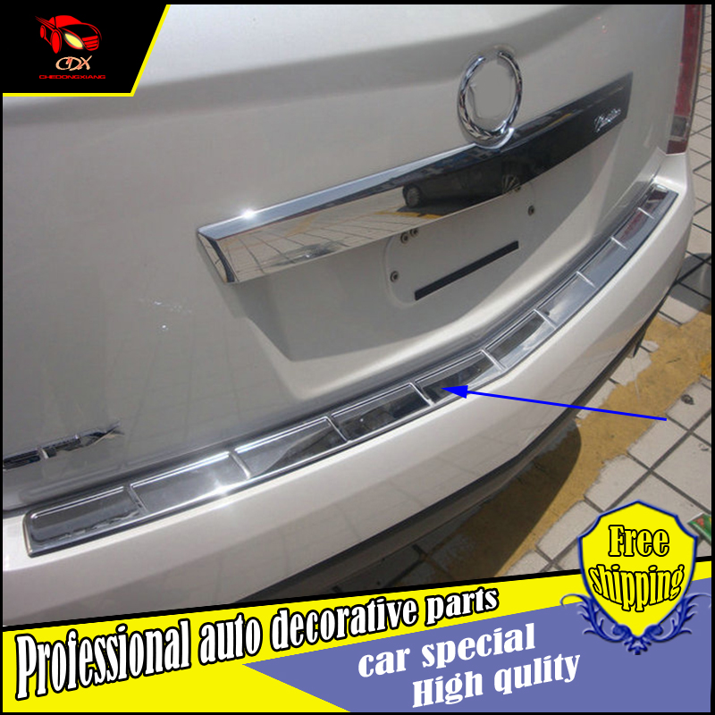 Car styling rear wing for Cadillac SRX 2010 2015 surface stainless steel Rear Bumper guard protector