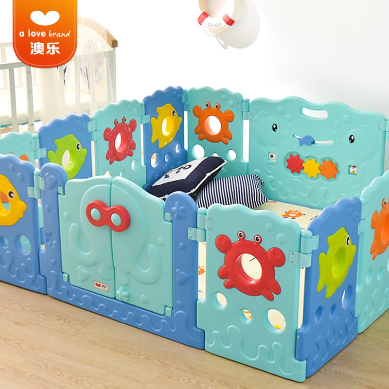 Babysafe Baby Playpens Children's Game Crawling Pads Toddler Fencing Animal cartoon Safety Fence Baby Home Interior Fence children safety products thickening fencing protect net balcony child fence baby safety net