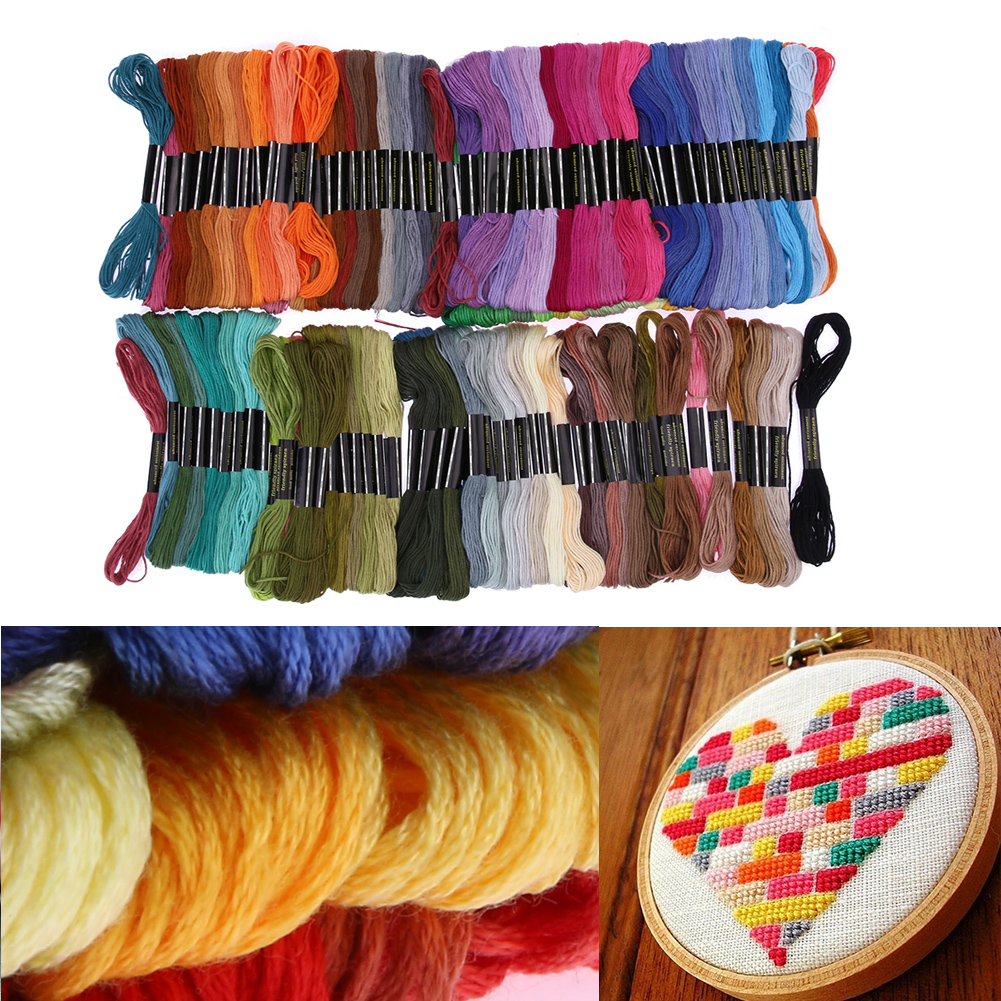 150 Colors Embroidery Thread Hand Cross Stitch Floss Sewing Skeins