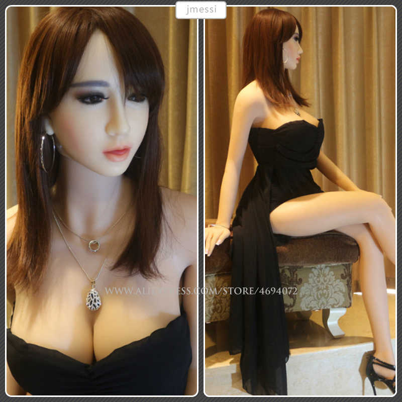 170cm Realistic Anal Sex Real Full Silicone Sex Dolls with Skeleton Realistic Solid Silicone Love Doll for Men Artificial Vagina