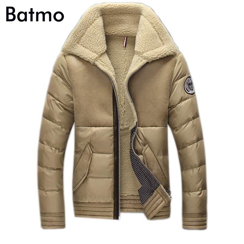 2018 nouveau hiver haute qualité chaud 90% Blanc duvet de canard manteau hommes, hiver Cachemire doublure veste hommes taille M, L, XL, XXL, XXXL, 3 couleurs