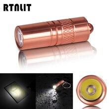 미니 포켓 휴대용 5W LED 손전등 마이크로 USB 충전식 방수 수중 2M 플래시 라이트 토치 램프 + 10180 배터리