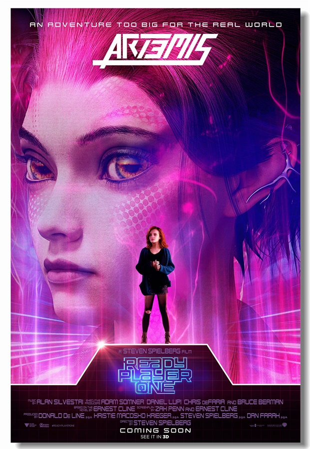 Custom Canvas Wall Decor Olivia Cooke Poster Ready Player One Emis Wall Stickers Office Wall Mural Wallpaper Cafe Decals #0388#