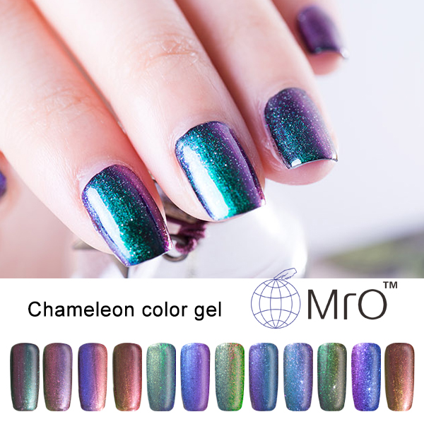 MRO 2 Pieces Gel Nail Polish Is A Chameleon Magnetic That Changes Color Different Angle Vernis Permanente Glue In From Beauty