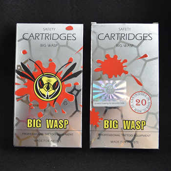 One Box Of 20PCS BIG WASP Evolved Cartridges Tattoo Needle - Soft Edge Curved Round Magnums 5/7/9/11/13/15/17/19/21/23/25/27RM