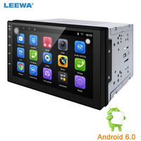LEEWA 7 Short Case Android 6 0 Quad Core Car Media Player With GPS Navi Radio