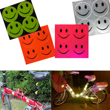 5pcs/lot Prismatic sheeting Reflective Smiley Face for Car Free shipping