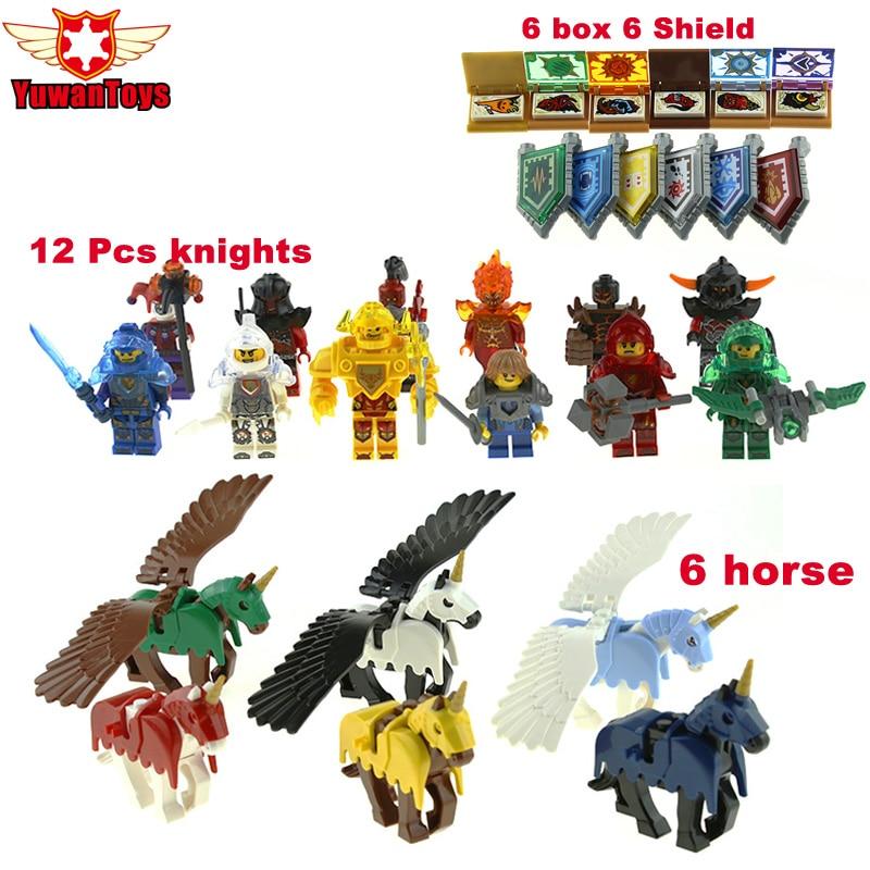 30 Pcs Hot Nexus Knights mini Toy Figures Bricks Axl Clay Jestro Aaron Macy Lance Robin Building Blocks For Kid Lepin