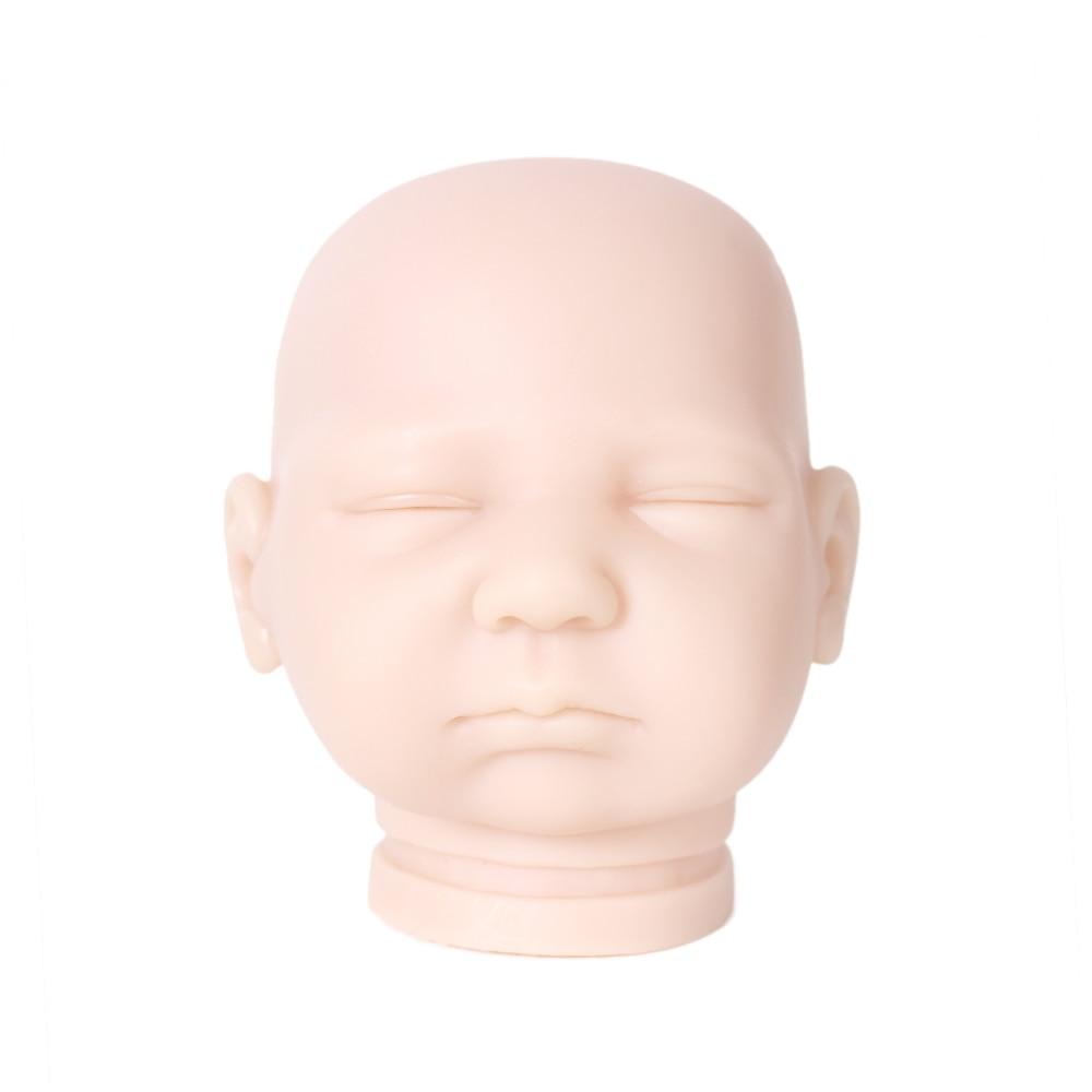 DIY blank kit soft vinyl reborn doll kit doll parts Silicone Vinyl Head 3 4 Arms