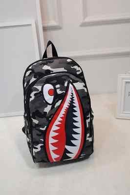 a114ebf1cdc9 ... Акула рот рюкзак модные школьные сумки для подростков печати рюкзак  школьный книга рюкзаки ...