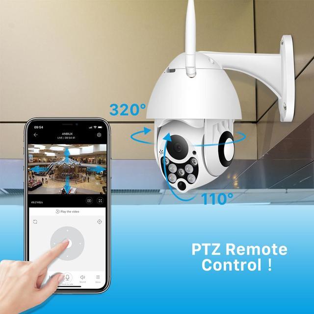 1080P PTZ IP Camera Wifi Outdoor Speed Dome Wireless Wifi Security Camera Pan Tilt 4X Digital Zoom 2MP Network CCTV Surveillance 3