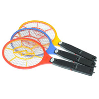 New Fashion Handheld Electronic Mosquito Bug Zapper Fly Swatter Racket LED Light Indicator For Camping Hiking