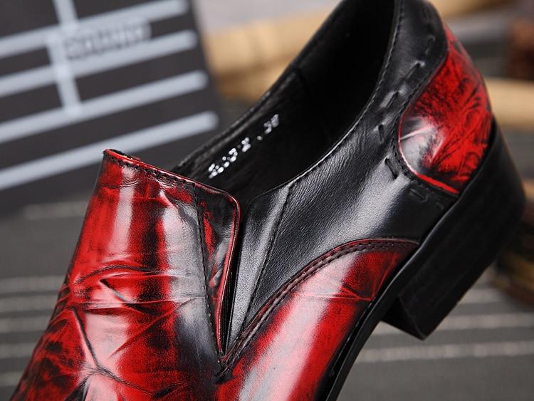 As Vestem Se Pontas Genuíno Metal Couro Pé De Homens as Casamento Sobre Para Deslizar Dedo Elevador 2018 Do Shown Shown Sapatos Brogues Oxford wqOH0x7