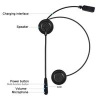 New Motorcycle Helmet Bluetooth Headset Earphone Stereo Music GPS Noise Reduction CSL2018
