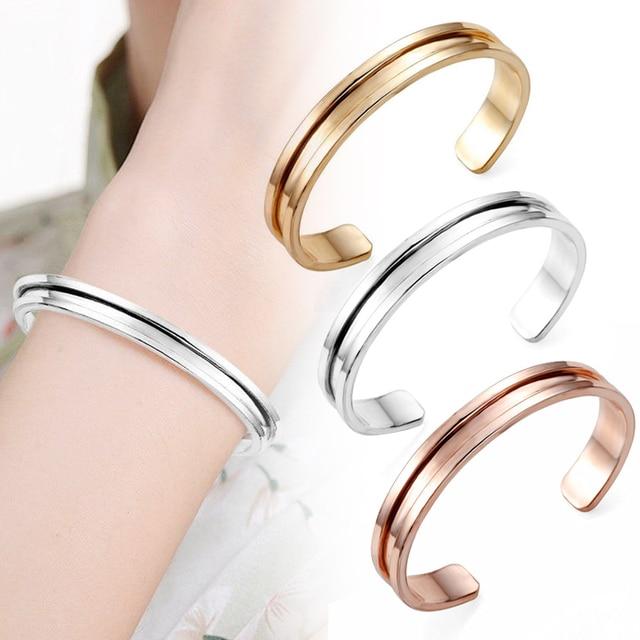 Rose Goud Verzilverd Haar tie Armbanden Fashion Open Bangle Voor vrouwen manchet armband pulseiras pulseira feminina