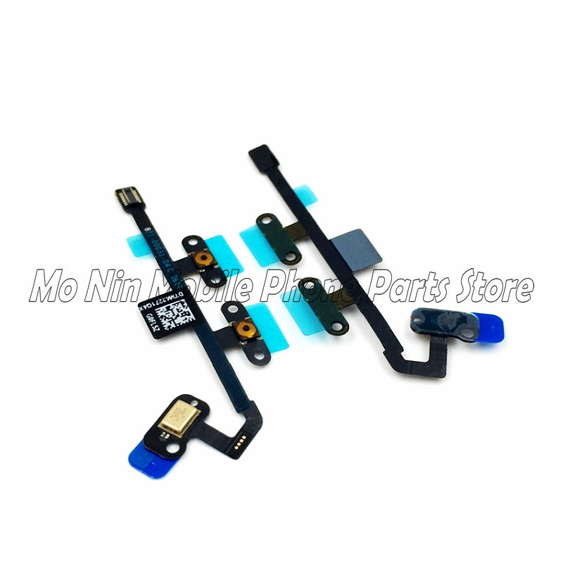 High Quality Power Button On Off Flex Cable & Microphone For IPad 6 Air 2 A1566 A1567 Volume Switch Connector Ribbon Parts
