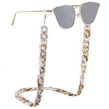 Retro leopardo estampado 70 cm gafas cadena moda cordones 30g gafas accesorios soporte cuello Correa cuerda