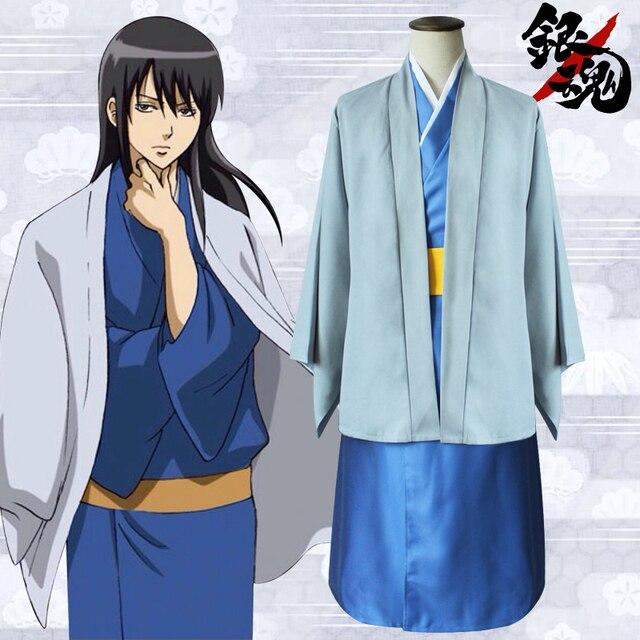 Gintama Silver Soul Katsura Kotarou COS Kimono Cosplay Costume Full Set  Halloween Party Wear