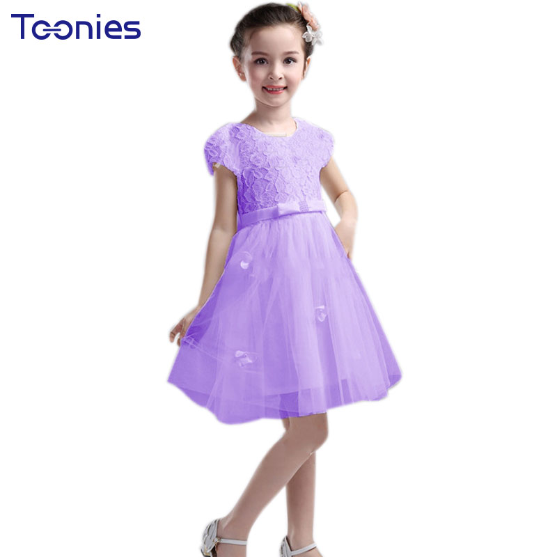 2017 Fashion Lace Children Princess Dress Summer Girls Dresses Wedding Party Kid Child Vestidos Clothes Toddler Birthday Costume