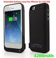 Nueva 4200 mah Reserva Externa Portable del Caso Del Cargador de Batería Banco de la Energía cargue el paquete de casos de la cubierta para iphone 5 5s se batería caso