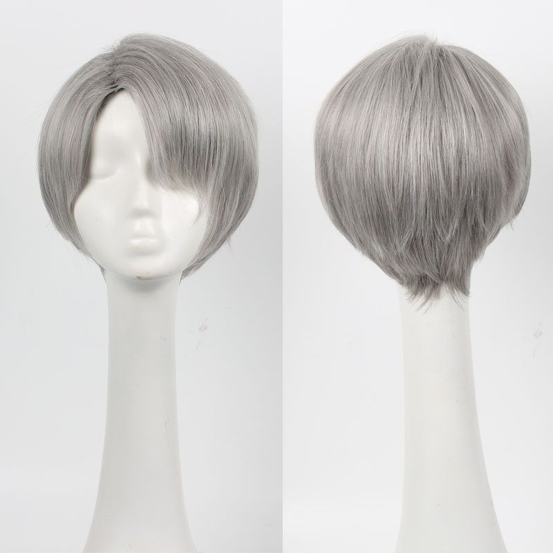 New Japan Anime Yuri On Ice Victor Nikiforov Short Synthetic Hair