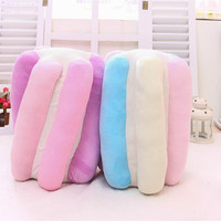 The new 2015 Japan Korea dream cotton candy ice cream macarons hold color plush toy pillow send girls birthday Christmas gifts
