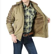 c7206bb2f4a Мужская куртка с капюшоном на меху Толстая Теплая зима 2017 мода летный  пилот воздушная куртка мужская