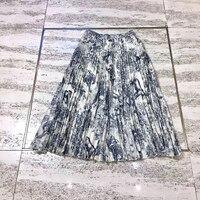 Модные миди юбки для женщин женские длинные юбки леди Новинка 2019 года повседневное печатных для плиссированные