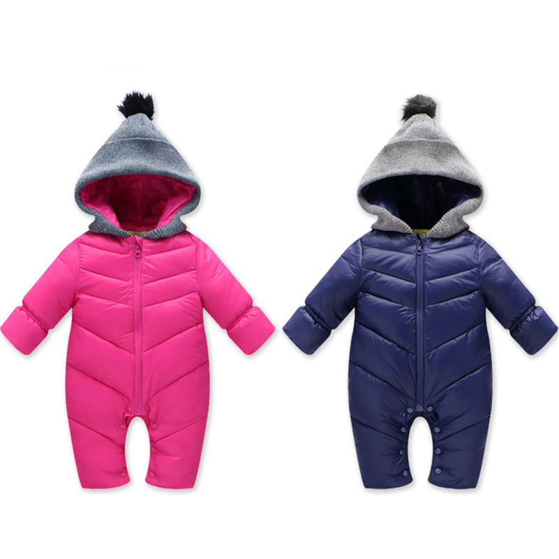 MBBGJOY Baby Rompers Winter Babys Boys Outerwear Premium Girls Warm Clothes 0-24M Kids Jumpsuit Baby Duck Down Crawling Clothing new brand children outerwear hooded winter clothes baby boys girls windproof warm down cotton rompers for 0 24m 3 colors