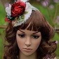 2015 nova mulheres pena borboleta flor de cabelo Fascinator acessórios de noiva chapéus