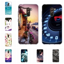 For Xiaomi Pocophone F1 Case Soft TPU Silicone Poco Cover Romantic City Patterned Coque
