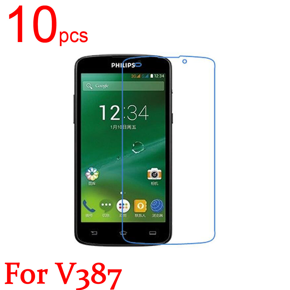 10pcs Ultra Clear/Matte/Nano anti-Explosion LCD Screen Protector Film Cover For Philips V387 V526 V787 Xenium V377 Protective image