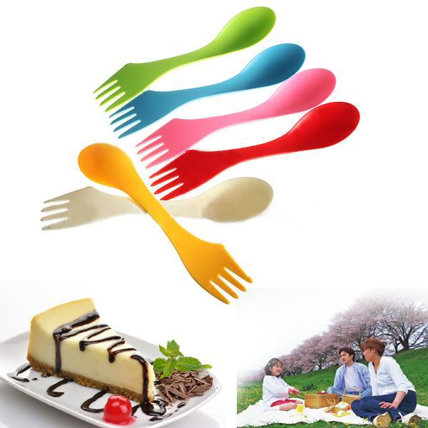 marque nouveau mini spork lunchbox ustensile camping randonne en plein air cuillre fourchette combo randonne ensemble - Ustensile Utile