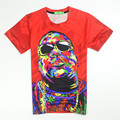 Biggie Smalls T SHIRT Red Tie Dye Graphic T-shirt Fashion Women/men's 3d Tees Summer Hip Hop Tops Biggie Shades Clothing