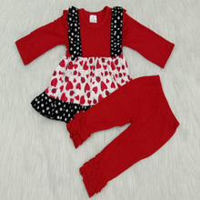 Yawoo Popular Valentines Day Baby Girl Clothes Outfits Love Dresses Top+Pants Clothing Sets Suit