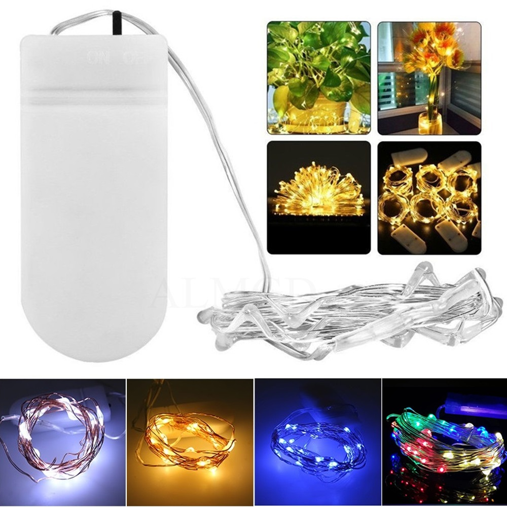 2M 20 LED Battery Operated LED Copper Wire String Fairy Light for Xmas Garland Party Wedding Christmas String Lights Decoration light string battery 1m 2m 5m 10m led string lights for xmas garland party wedding decoration christmas tree flasher fairy light