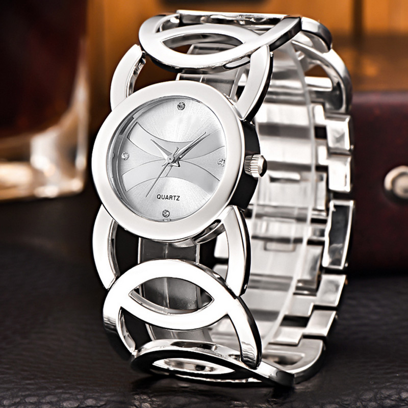 где купить Women Watches Rhinestone Hollow Bracelet Quartz Watch Stainless Steel Bangle Wrist Watch Gifts For Lady Mother LL@17 по лучшей цене
