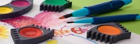 бесплатная доставка Фабер Кастель 24 цвета дети твердые акварель пигмент ребенка подарок для ребенка