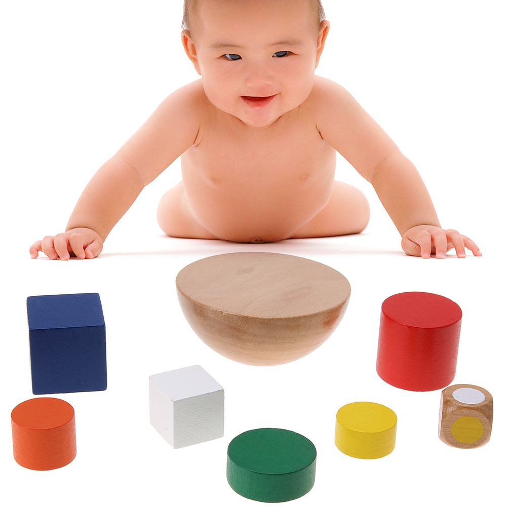 Baby Toys Wooden Geometric Blocks Kids Balancing Game Toy Children Learning Educational Toys For Children Family Game Gift Toys pizza balance game pile up balancing desktop toy pretend play food small family plastic building blocks toys for children