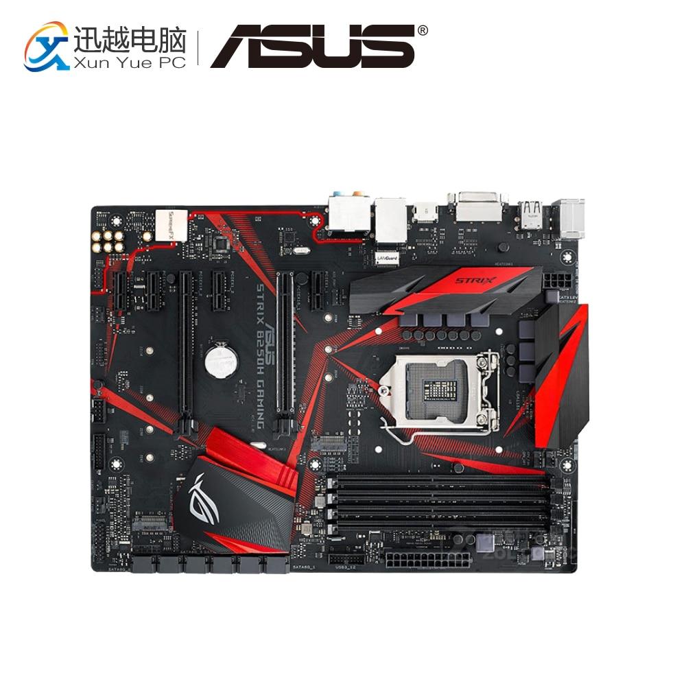 Asus ROG STRIX B250H carte mère de bureau de jeu B250 Socket LGA 1151 pour Core i7 i5 i3 DDR4 64G M.2 ATX carte mère originale d'occasion