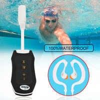 Reproductor MP3 de 8GB a prueba de agua portátil sin pantalla Mini reproductor Mp3 FM para natación buceo senderismo con diseño de clip pequeño