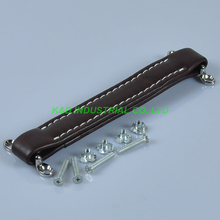 2pcs Vintage Brown Leather Handle Heavy For Guitar Amplifier Fender Ampeg AMPS ampeg portaflex pf 410hlf