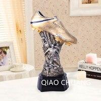 0 8CM 12 1 European Cup Football Shoe Figurine Award Souvenir World Cup Soccer Trophy Boot