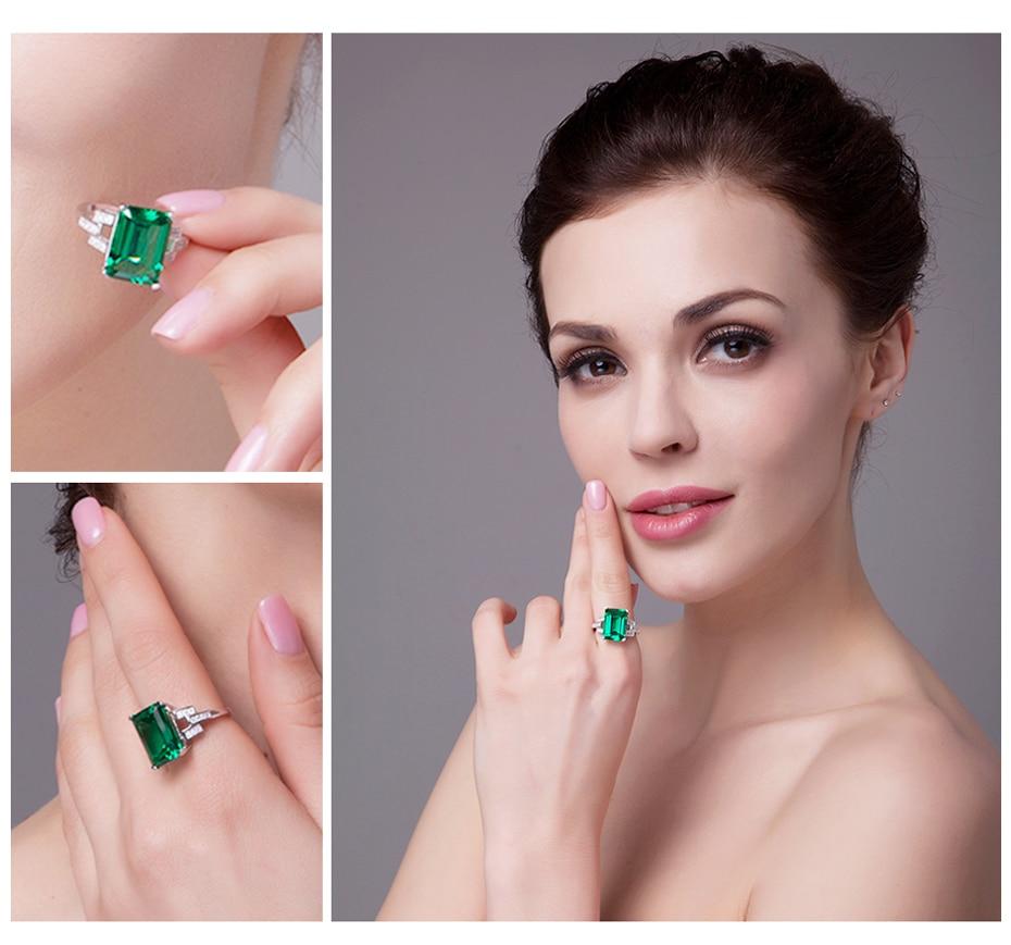 JewelryPalace Luxury 5.9ct Created Green Nano Russian Emerald ...