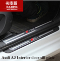 Stainless Steel Car Interior Door Sill Scuff Plate Pad Threshold Car Guards Sills For Audi A3 2014 2015 2016 Car Styling