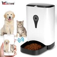 Wistino Wi Fi автоматической подачи домашних животных Еда диспенсер корма для кота собаки Запись с HD 720 P Wi Fi Камера Беспроводной телефон управлен