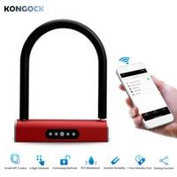 Bluetooth APP Keyless Smart U Type Lock, Keyboard Password Bicycles Motorcycles Lock