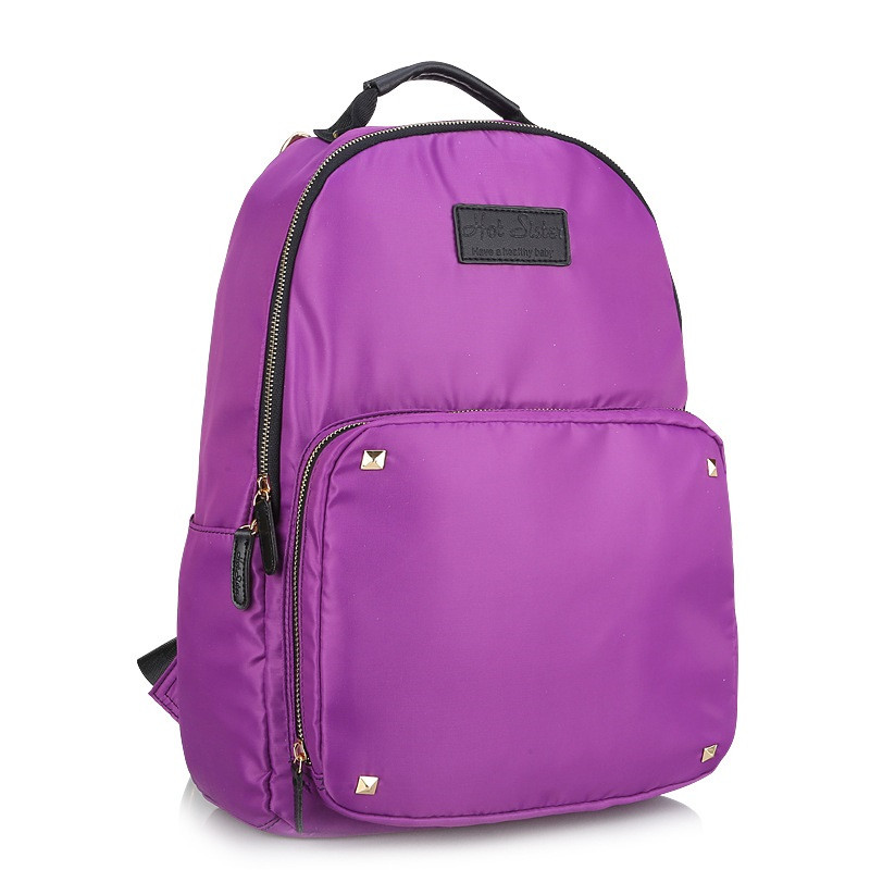 Solid Color Waterproof Nylon Machine Washable Mum Diaper bag High-Quality Ladies Fashion Backpack Super Star Style