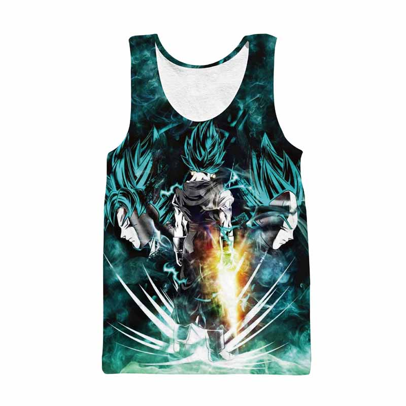 Dragon Ball Z Mens Summer   Tank     Tops   Super Saiyan Goku Black Vegeta Vegetto Frieza Majin Buu Bodybuilding Vest Fitness Jersey